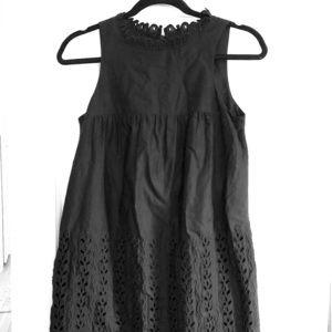 Anna Sui Black Eyelet Dress size Small